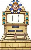 Ancient Egypt themed slot machine. Vector clip art illustration with simple gradients. Pharaoh's hea