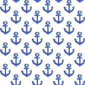 Watercolor anchor pattern
