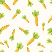 Handpaint watercolor carrot