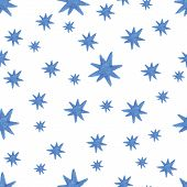Hand paint  watercolor stars pattern