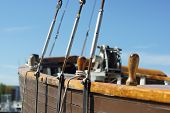 old sailing boat rigging