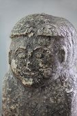 image of pagan  - Paganism the Stone Face idol close to - JPG