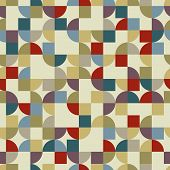 Colorful Geometric Background, Squared Pockmarked Abstract Seamless Pattern.