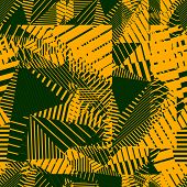 Bright rhythmic textured endless pattern, continuous grunge geometric background.