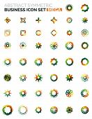 Flower, star shaped business icons, mega collection