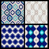 picture of plexus  - Set of seamless patterns - JPG