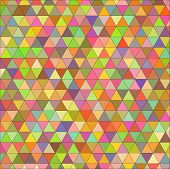 Vector seamless texture of colored triangles