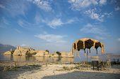 Bafa Lake Shore And Historical Castle Ruins, Bafa, Turkey, 2014