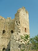 Ruins - tower of old fortress in Crimea