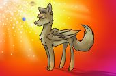 Magic Wolf With Wings