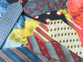 Background from colourful stylish neckties