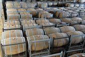 Wine Aging In Barrels