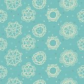 Floral, Ornamental Cute Seamless Pattern With Hearts