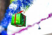 Closeup Geen Gift Box
