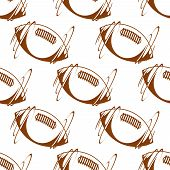 Rugby ball seamless background pattern