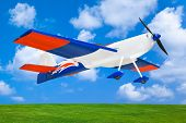 RC plane on sky background