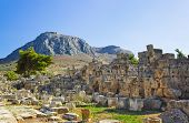 Ruins in Corinth, Greece - archaeology background