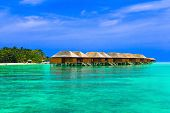 foto of kuramathi  - Water bungalows on a tropical island  - JPG