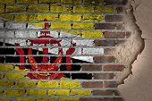 Dark Brick Wall With Plaster - Brunei