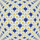 Design Colorful Flower Decorative Pattern