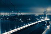 pic of gate  - Golden Gate Bridge Night Scenery - JPG