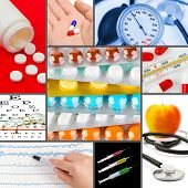 Collage of medical images (my photos) - health background