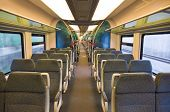 Interior of train - travel background