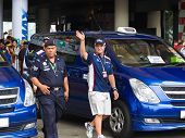 SEPANG, MALAYSIA - APRIL 10: Rubens Barrichello (team Williams) greets fans at the autograph session on Formula 1 GP, April 10 2011, Sepang, Malaysia