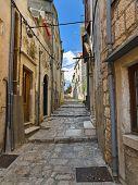Street at Korcula, Croatia - architecture background