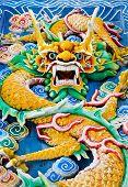 Dragon in Thean Hou Temple at Kuala Lumpur Malaysia