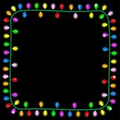 Christmas Lights On Dark Background With Space For Text