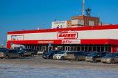 Izhevsk, Udmurtia/Russia - March 11: Big family hypermarket Magnet in Izhevsk city 2013 March 11