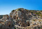 Ancient town in Myra, Turkey - archeology background