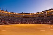 Bullfighting arena - corrida at Madrid Spain