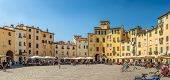 Panoramic View At The Anfiteatro Sqauare In Lucca