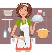 Beautiful Woman Chef