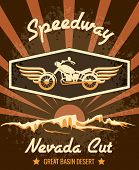 Retro Speedway Nevada Cut Graphic Design