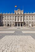 Royal Palace at Madrid Spain - architecture background