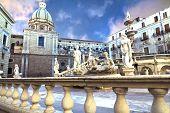 image of shame  - Palermo Piazza Pretoria also known as the Square of Shame Piazza della vergogna - JPG