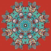 circular decorative geometric pattern for yoga fashion design