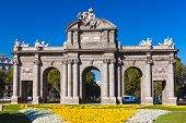The Puerta de Alcala at Independence Square - Madrid Spain