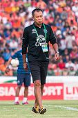 Sisaket Thailand-october 15: Newin Chidchob, President Of Buriram Utd. In Action During A Training A