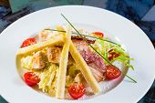 picture of emaciated  - Caesar salad made of fresh vegetables - JPG