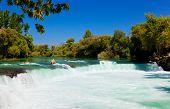 Waterfall Manavgat at Turkey - nature travel background