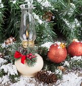 Christmas Oil Lamp