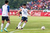 Sisaket Thailand-october 15: Javier Patino Of Buriram Utd. In Action During A Training Ahead Thai Pr