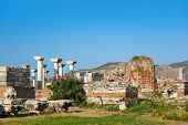 Ruins of st. Johns Basilica at Ayasuluk Hill - Selcuk Ephesus Turkey
