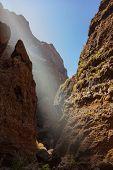Famous canyon Masca at Tenerife island - Canary Spain