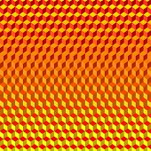image of psychodelic  - Psychodelic Abstract 3D Red Yellow Background from Cubes - JPG