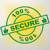 Hundred Percent Secure Shows Password Encryption And Completely